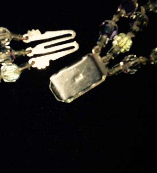 Beeldschone 1950's vintage demi parure van glanzende facet geslepen kristallen