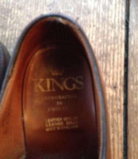 Kings Engelse handgemaakte bruine, leren herenschoenen brogues