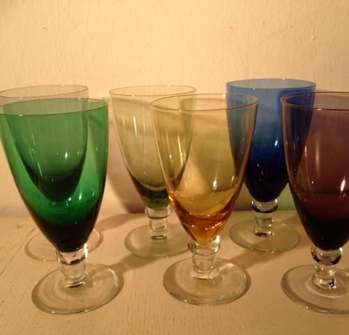 Carnaval Maastricht set van 6 sherry K8 glazen