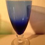 Carnaval glas sherry K8 koningsblauw Kristalunie Maastricht 1956