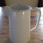 Vintage 2 liter emaille waterkan