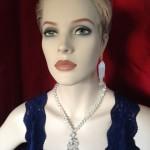 fifty's cocktail collier van gecoate kristallen