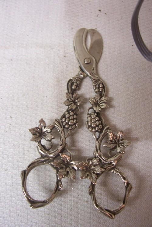 Beeldschone zilveren druivenschaar