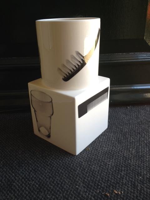 Grote design thema vaas voor kapper, basketballer, tandarts en meer