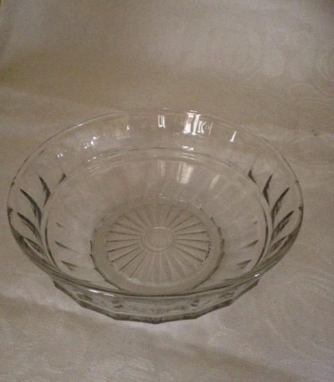 A.D. Copier Hollandia 15 cm.dia. een schaaltje van helder glas