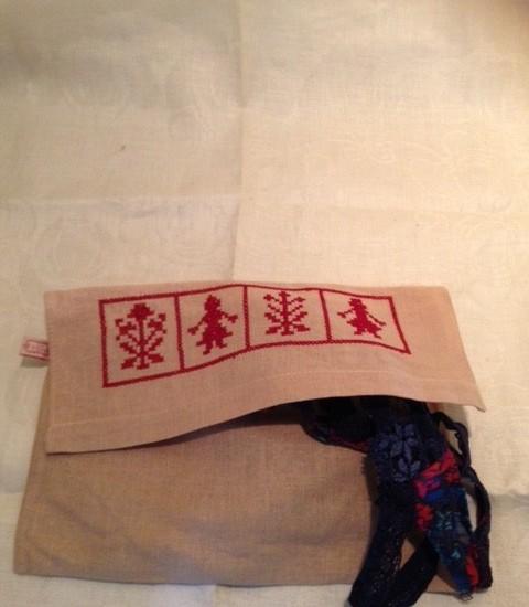 Linnen/jute zakjes voor lingerie, juwelen, servet etc.