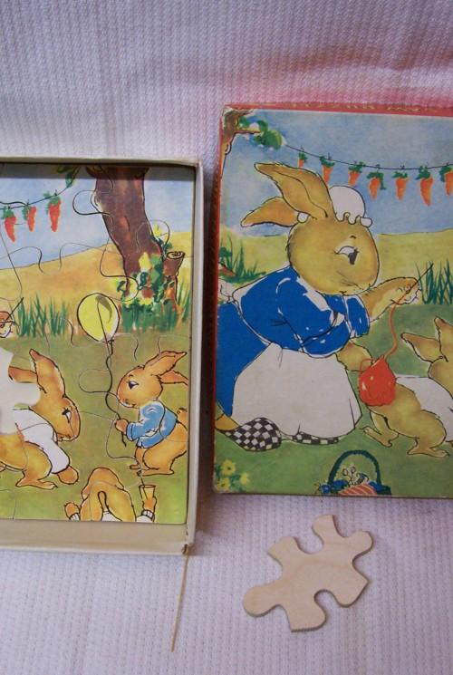 Paashaasjes houten puzzel