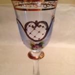 Doos met 6 romantische handbeschilderde Tsjechische likeur glaasjes