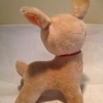 Snoezig antiek Bambi hertje van mohair wol