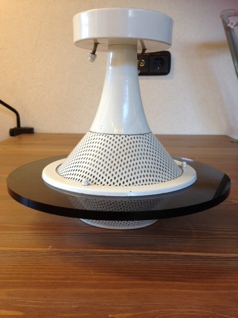 Vintage seventies space age plafondlamp Ufo model