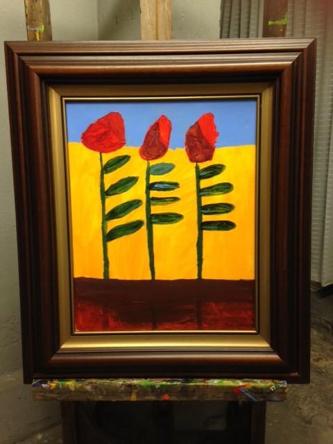 Strakke houten vintage schilderijlijst
