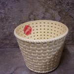 Retro plastic gevlochten bloempot van Emsa