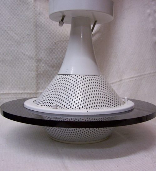 Vintage seventies space age plafondlamp Ufo model