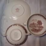 2 Burgenland soepkoppen van Villeroy & Boch in bruin