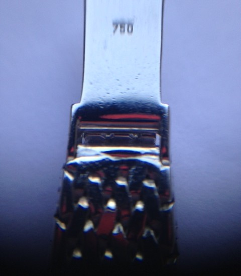 Witgouden Longines dames horloge uit de jaren 1960 met bijna 0,5 ct. diamant