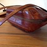 Mooie bruin lederen vintage tas van Burkely's Leather House