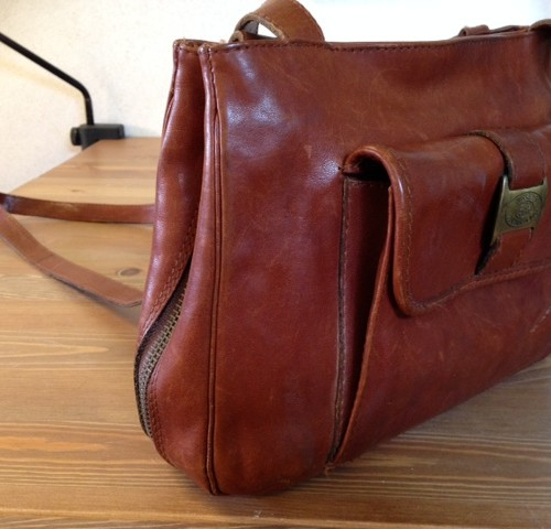 Van Burkely's Mooie Leather Downstairs – Vintage House Bruin Lederen Tas K31JTlFc