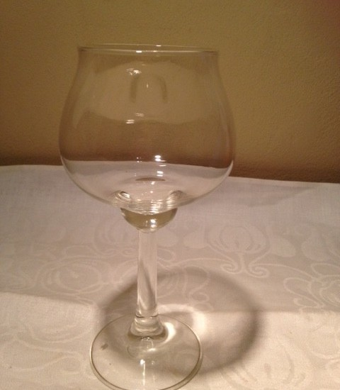 2 x Cognacglas Ambassador van W.Heesen voor Leerdam