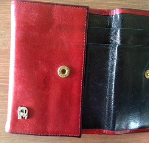 Rode zachtlederen portemonnee van PE Florence