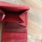Donkerrode wildleren heren portemonnee