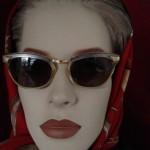 Vintage zonnebril van Anjou goud double or lamine uit de jaren 1950