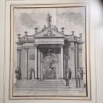 Geweldig toepasselijke antieke gravure voor een Leidse student
