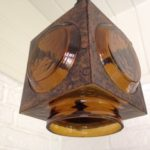 Nanny Still-Mc.Kinney lamp van koper en glas voor Raak Amsterdam 1960