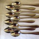 9 Keltum edelstaal koffielepels in model puntfilet