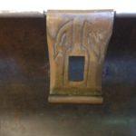 Antiek beschuit of koekblik uit de art-deco