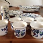 6 eierdoppen van Johnson Brothers Rose Chintz Blue
