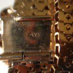 Antieke gouden jarretiere 1840-1880 met memento mori