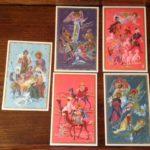 Set van Kerst ansichtkaarten ongelopen uit de jaren 1950-60