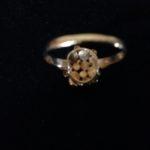 Gouden cocktail ring met edelsteen kleurstenen uit de fifty's