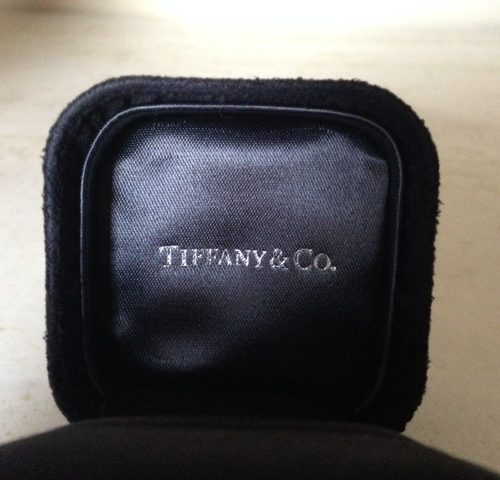 Beeldschone platina en briljant bloem ring van Tiffany & Co