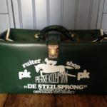 Vintage tas voor paardrijlaarzen van de Steilsprong den Haag