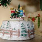 """Kerst muziekdoosje met berenfamilie speelt """"Jingle Bells"""""""