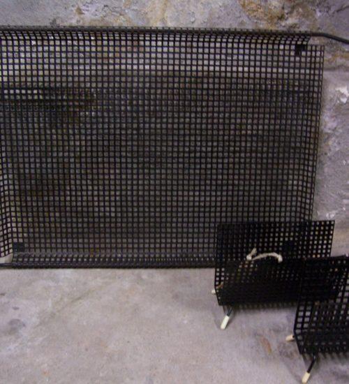 Serveer tray Pilastro van geperforeerd metaal uit de jaren 1960
