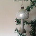 Oude antieke grote, zilveren gepatineerde kerst lamp uit de eerste helft 1900