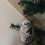 Antieke oude Kerstman in zilver van dun geblazen glas 1e helft 1900
