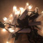Vintage snoer met 16 heldere Kerst lampjes