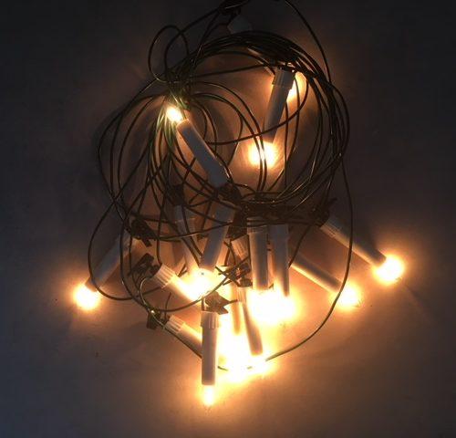 Vintage snoer Kerstlampjes op knijpers