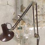Vintage operatie statief op wielen met lamp uit de jaren 1950-1960