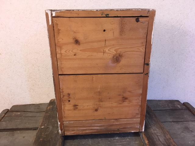 Vintage brocante bruin houten kastje voor badkamer of w.c. u2013 downstairs