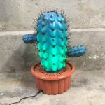 Retro seventies cactus lamp