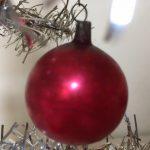 Mini reflex, krater of deukbal van vliesdun glas met gelatineverf voor feathertree of tinselboompje