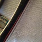 Spang armband met grote blauwe topaas en certificaat uit de jaren 1970
