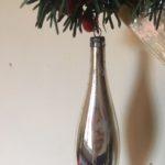 Antieke oude pegel kerstbal van dun geblazen glas 1e helft 1900