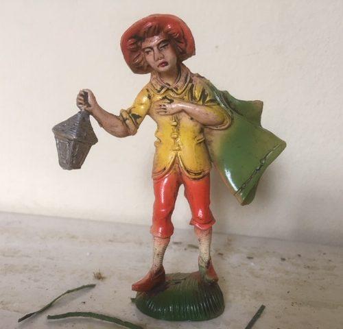 Oude antieke Kerst herder van early plastics uit de 50-60-er jaren