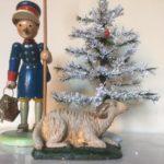 Antiek oud Kerst schaap een bok uit het 1e kwart van 1900