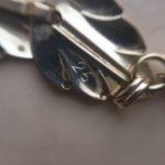 Zilveren retro Lapponia collier van geschakelde blaadjes uit de jaren 1960